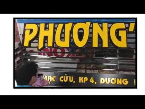 Thi công bảng hiệu chữ nổi – Hộp đèn hút nổi Phương's Kitchen Phú Quốc