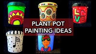 Planter Pots Painting Ideas Best Out Of Waste Old Plastic Containers To Planters Youtube