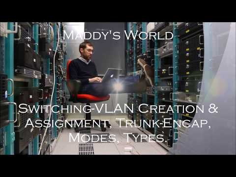 Networking - Switching [ VLAN Creation & Assignment, Trunk Encap, Modes, Types ]