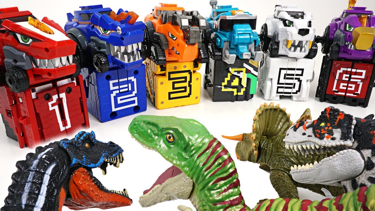 Dinosaur Army Appeared In Tayo Town! Power Rangers And