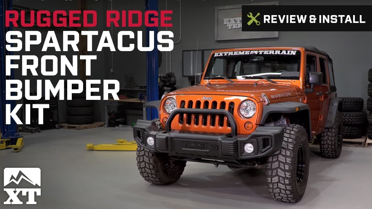 Jeep Wrangler Rugged Ridge Spartacus Front Per Kit 2007 2017 Jk Review Install