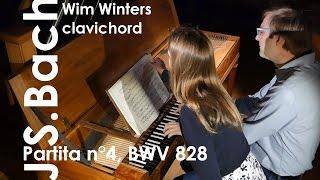 J.S.Bach :: Partita n°4, BWV 828 :: Wim Winters, Clavichord