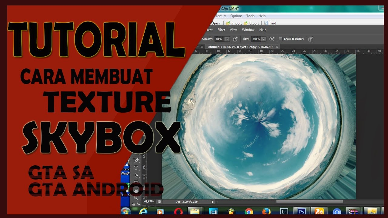 Tutorial Membuat Texture Skybox For Gta Sa Android Photoshop Cs Youtube