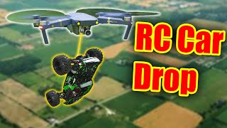 Dropping an RC CAR from a DRONE @ 400 feet