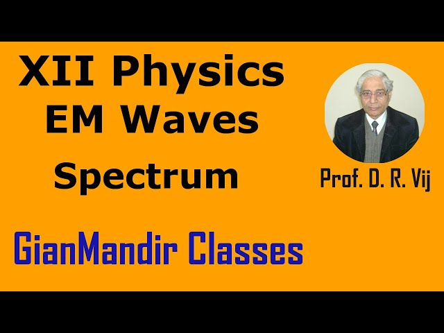 XII Physics | Electromagnetic Waves | Spectrum of EM Waves by Amrinder Sir