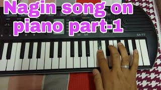 Nagin song on piano part-1, Casio sa-77, on tabla beat,nagin bin,piano tuto,Ahmedabad,Indian Nagin