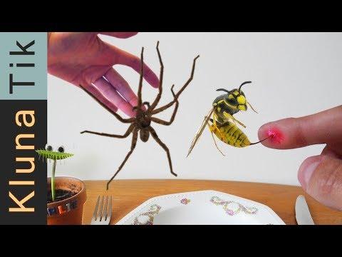 WASP STUNG VS SPIDER BITE   #56 KLUNATIK COMPILATION    ASMR eating sounds no talk