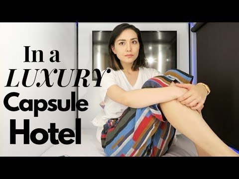 One Night in a LUXURY Capsule Hotel
