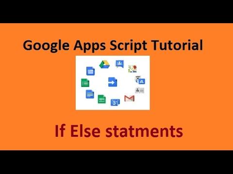 Google apps script if else statements syntax - Amarindaz