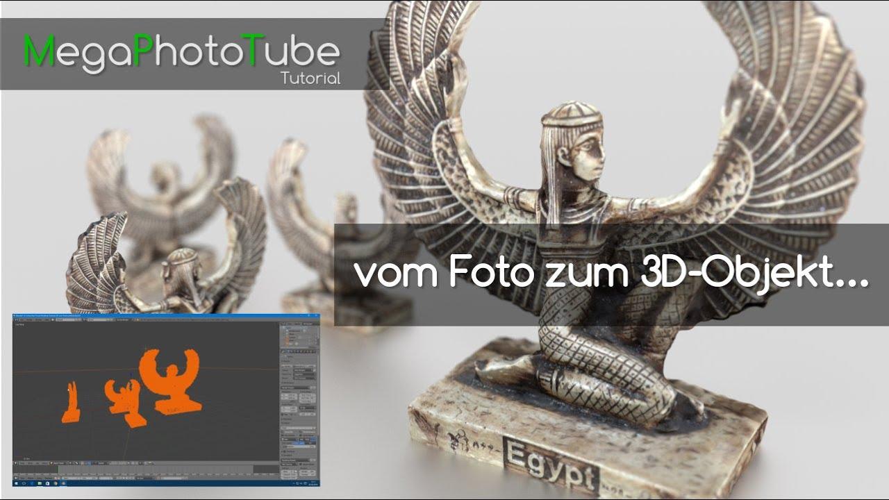 vom Foto zum 3D-Objekt / Photogrammetrie FREEWARE / German ...