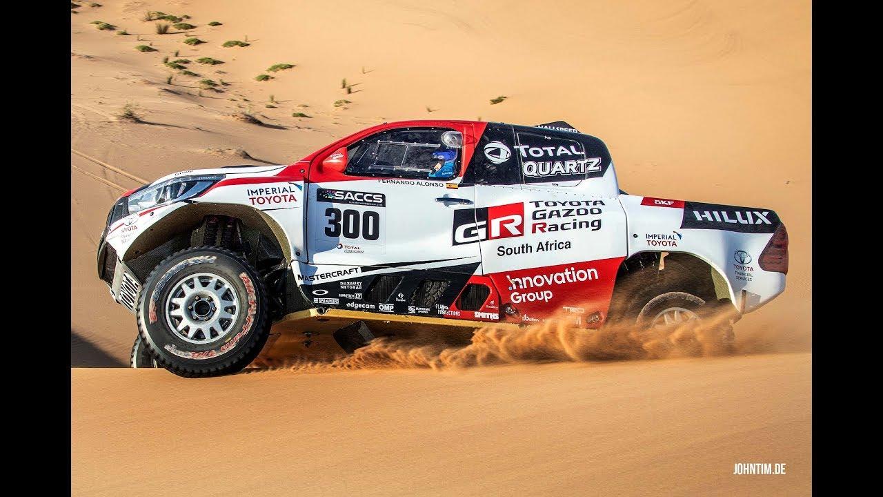 Dakar Rally 2020 Formula 1 Champion Fernando Alonso Testing His Toyota Hilux In Namibia Desert