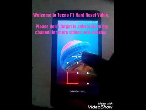 How to hard reset tecno F1 Pattern/password without PC 100%