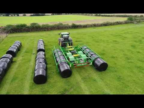 Wilson Engineering Super Move 10 Round Bale Handler With John Deere 6910