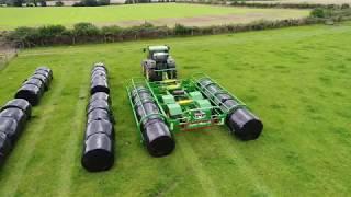 Wilson Engineering Super Move 10 Round Bale Handler with John Deere 6910