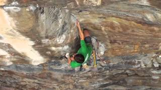 Brent Perkins climbing Proper Soul 5.14a (On Gear)