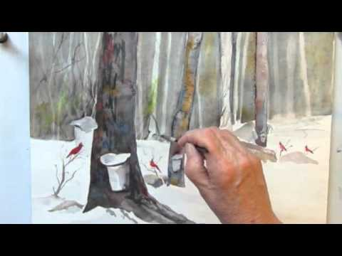 Sap Season – A Watercolor Painting demo by Jan Pastor Part 2