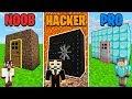 Minecraft NOOB vs. PRO vs HACKER: SECRET ROOM in Minecraft! w/ MooseCraft (MINECRAFT BATTLE)