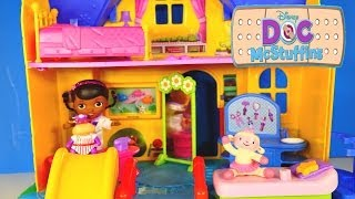 "Doc Mcstuffins Disney Junior ""doc Is In!"" Clinic Talking Hallie And Lambie Doctor Office Toys"