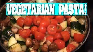 Vegetarian Penne Pasta w/ Cherry Tomatoes Mushrooms & Zucchini!