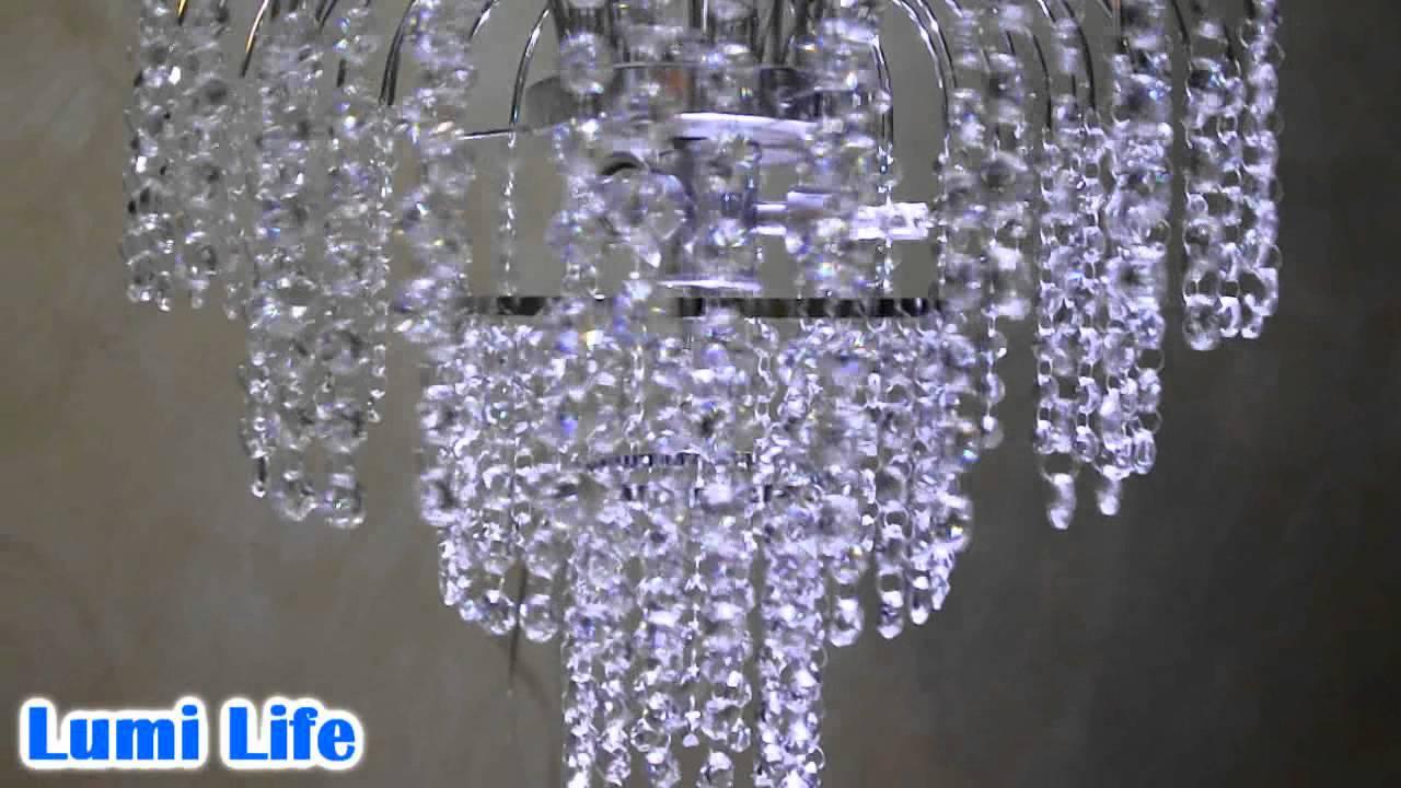 Lumi life lustre chuva de cristal youtube - Lustre pampilles cristal ...