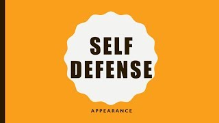 Self Defense Appearance