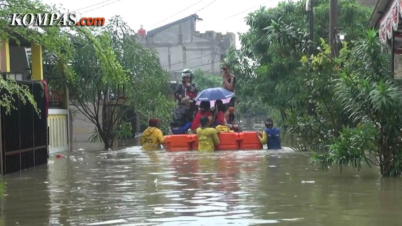 300 Kk Terdampak Banjir Garden City Residence Tangerang Youtube