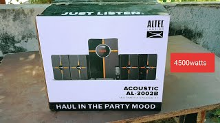 ALTEC LANSING ACOUSTIC AL-3002B 4.1 UNBOXING 4500watts(POWERFUL BASS)BEST HOME THEATRE UNDER 5000rs