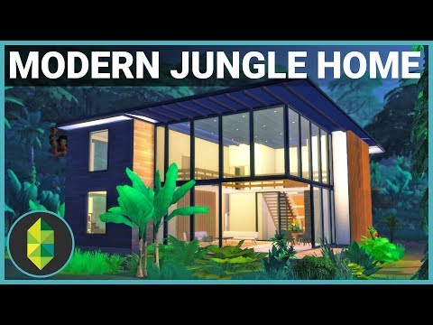 Modern JUNGLE ADVENTURE Home | The Sims 4 House Build