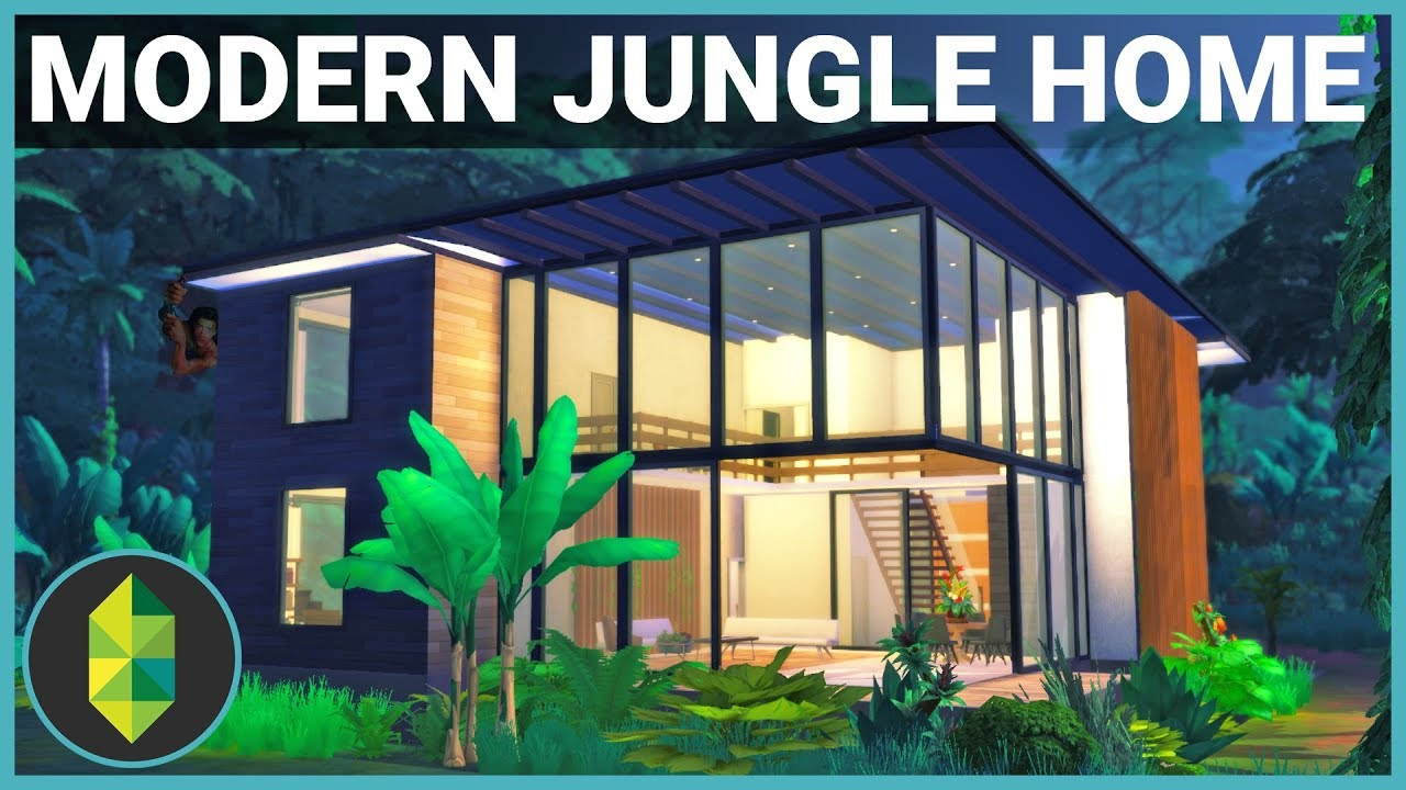 Modern jungle adventure home the sims 4 house build for Jungle house music