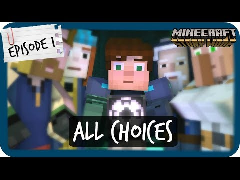 Minecraft: Story Mode Season 2 | ALL CHOICES and CONSEQUENCES | Episode 1