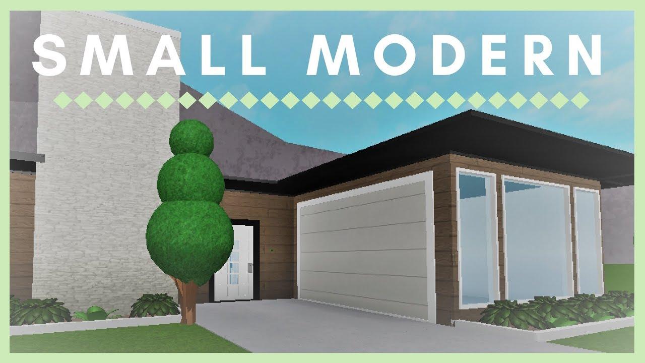 Roblox Bloxburg Tiny Modern House Roblox Welcome To Bloxburg Small Modern Youtube
