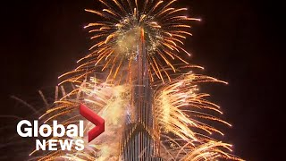 Download New Year's 2021: Dubai puts on dazzling fireworks show from iconic Burj Khalifa
