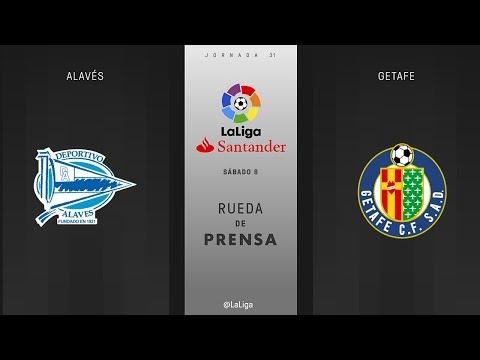 Rueda de prensa Alavés vs Getafe