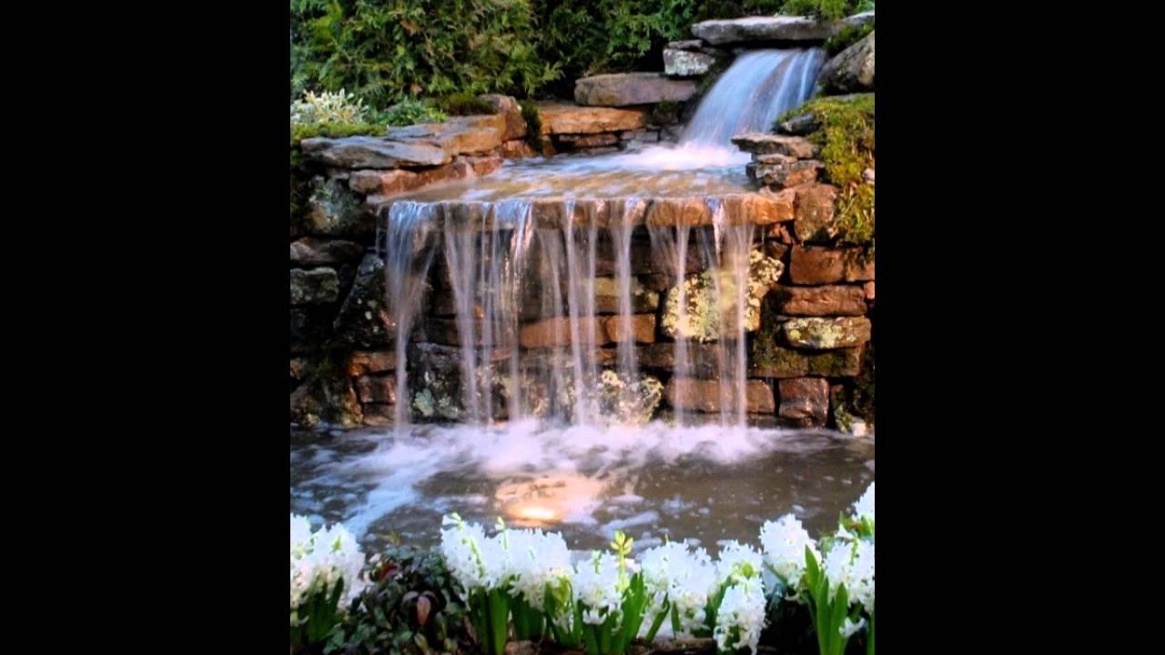Garten mit wasserfall und blumen ideen youtube for Garten ideen blumen