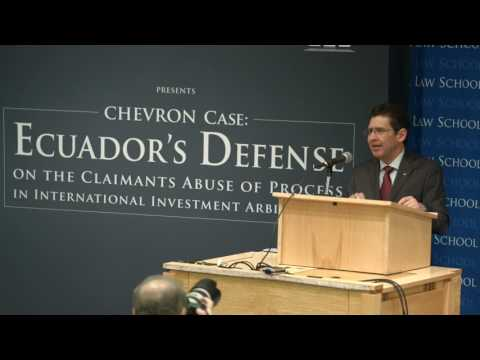 CCSI | Ecuador's Attorney General Speaks on Chevron v  Ecuador | October 2015