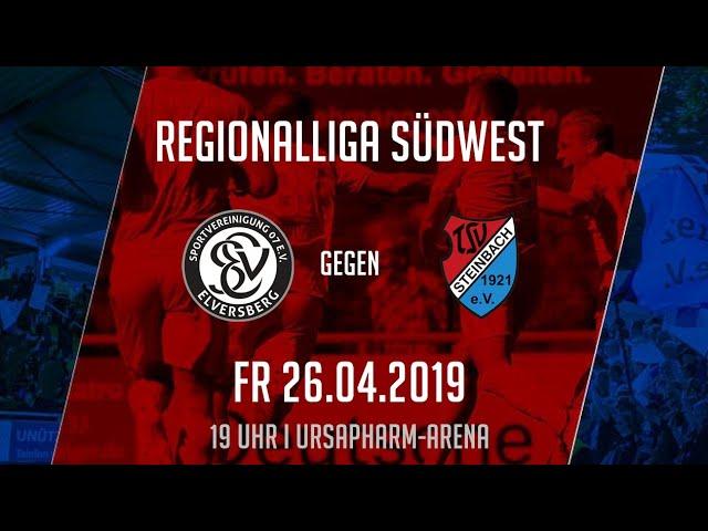 SV Elversberg - TSV Steinbach Haiger 3:1 (Regionalliga Südwest 2018-19)