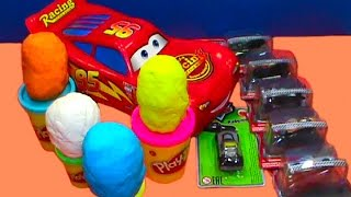 Cars 2 Toys unboxing play doh kinder surprise eggs toys