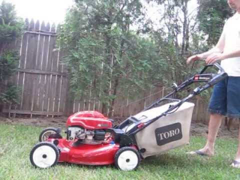 Toro Personal Pace Mower With Electric Start Demo For