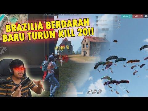 GAK DI KASIH NAFAS!! BARU TURUN DI BRAZILIA LANGSUNG KILL 20!! - FREE FIRE INDONESIA