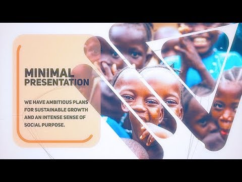 Minimal Company Presentation After Effects Template / Beautiful Inspiring Ambient Royalty Free Music