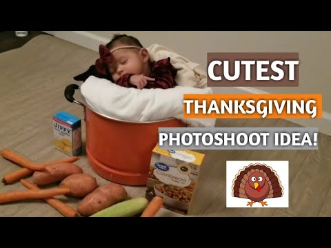 Custest Thanksgiving Photoshoot Idea Baby S Two Month Photoshoot