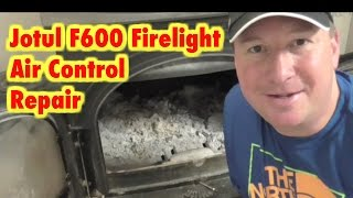 Wood Stove Air Control Lever Solution- Jotul F600 Firelight