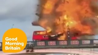 Movie Explosion On London Bus Shocks Pedestrians | Good Morning Britain