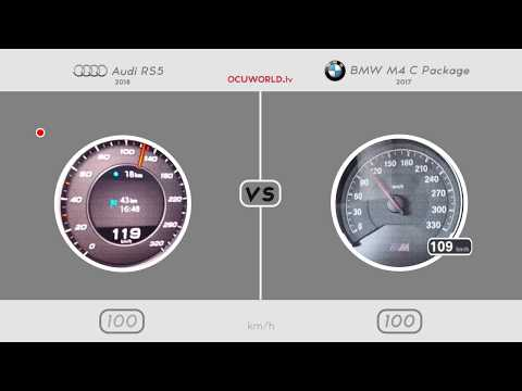 Audi RS5 VS BMW M4 Competition Package // 0-250 Km/h