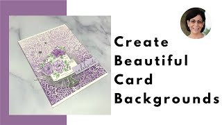 🔴How to Create Beautiful Card Backgrounds with Ink