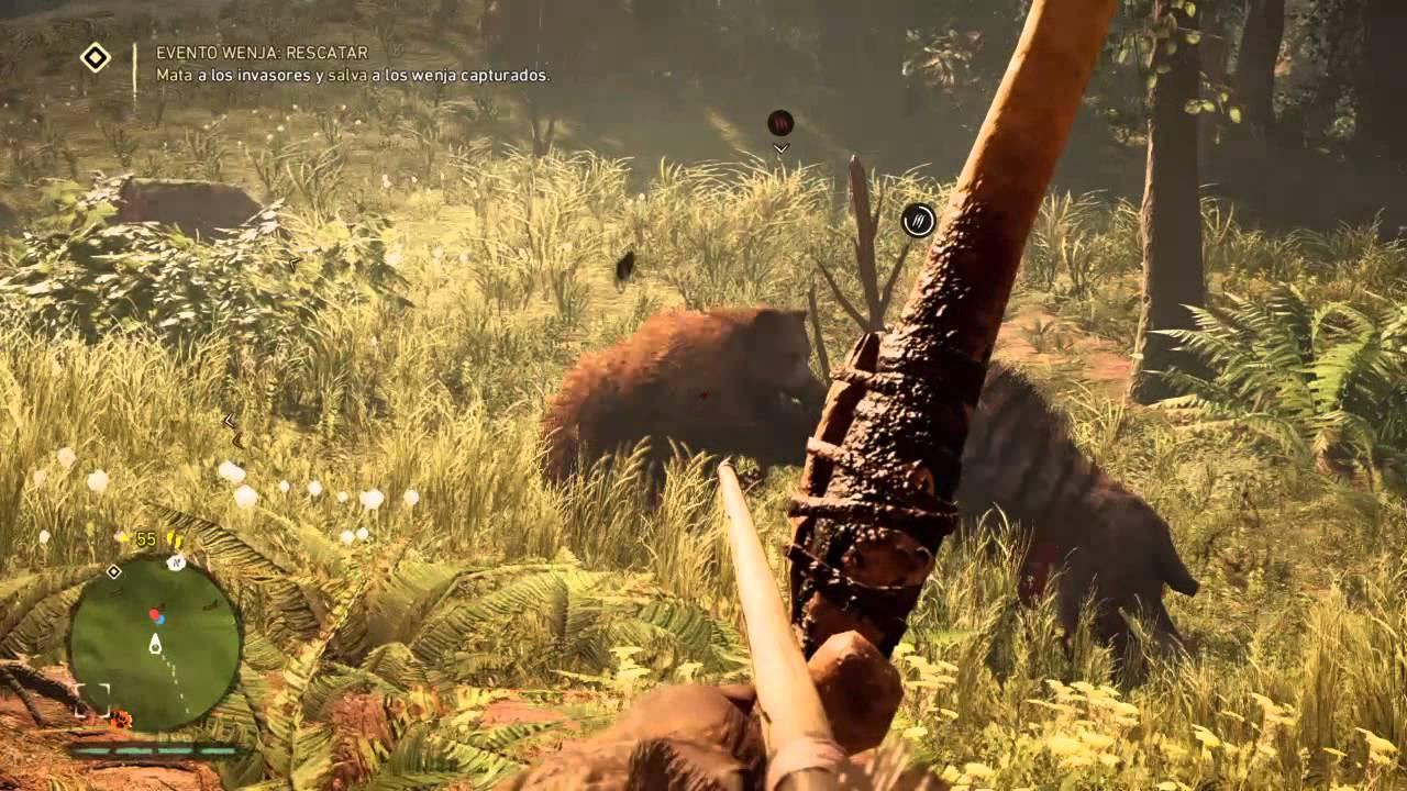 Far Cry Primal DIENTES DE SABLE VS OSO - YouTube