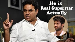 Arjun Reddy Movie REVIEW by Telangana IT Minister KTR | Vijay Devarakonda | Shalini | NewsQube