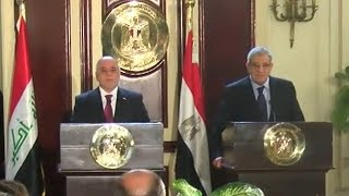 العبادي يبحث بالقاهرة مكافحة الإرهاب والتعاون الاقتصادي