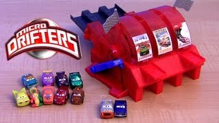 Micro Drifters Multi Car Launcher Cars 2 World Grand Prix Snot Rod, Rip Clutchgoneski Disney 9-Car
