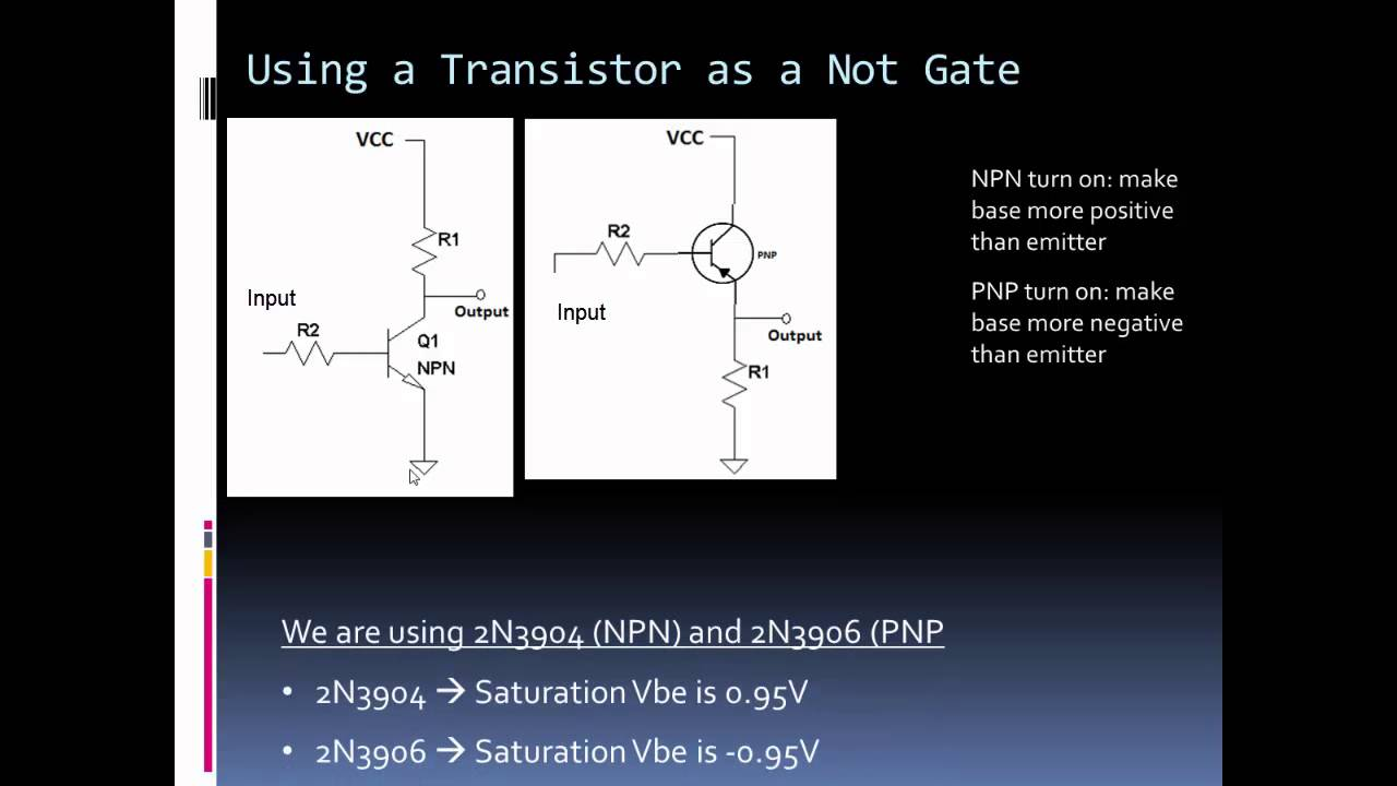 Using A Transistor As Not Gate By Forcetronics This Is Diode Logic Dtl Nand Circuit Bipolar